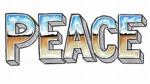 how to draw peace 3d 3d block letters peace with chrome With peace letters