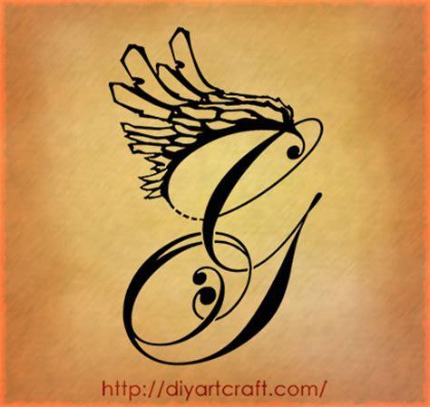 tatuaggi lettere m g wave wings