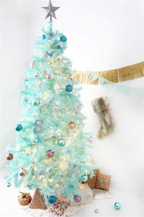 diy mint green christmas tree spray painted tree a