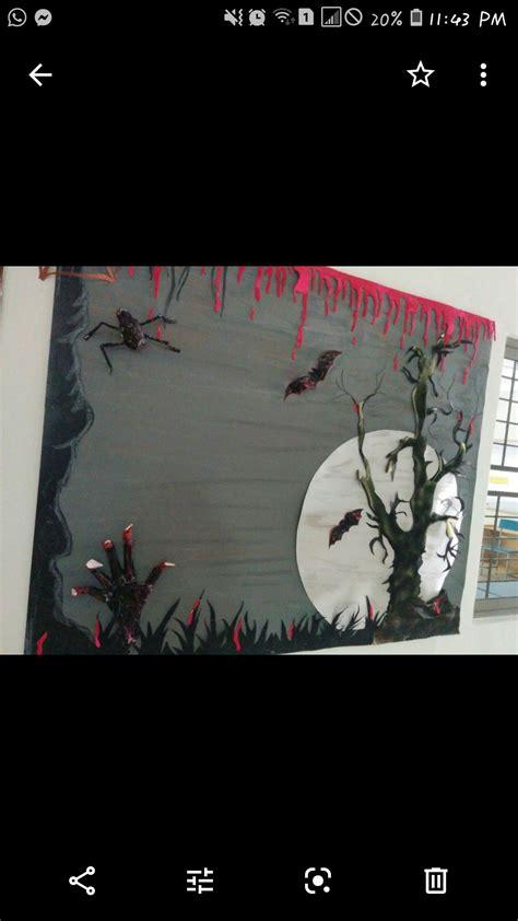 horror theme board | Horror themes, School bulletin boards ...
