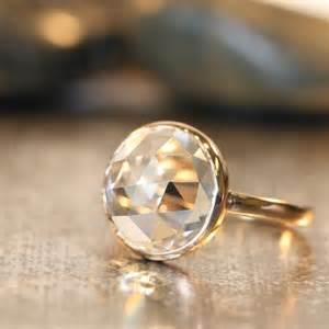 quartz engagement rings a stunning engagement ring wedding white quartz quartz ring and gold