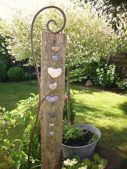 Garten Garden Baumstamm Dekorieren Easel Gardening Pinpec