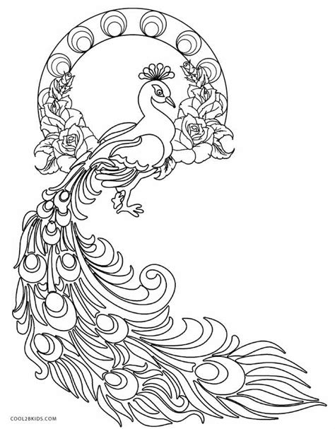 peacock coloring pages for adults printable coloring pages peacock coloring pages