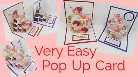 pop  card flower video tutorial youtube