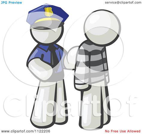 cartoon   white man police officer  prisoner