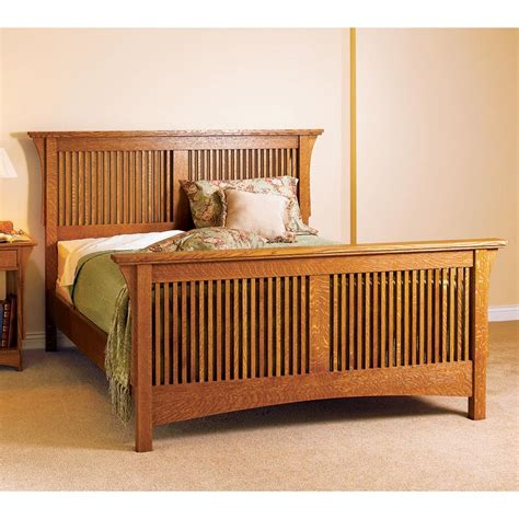 Bedroom Set Plans by Arts Crafts Bed Mission Style Woodworking Plan From