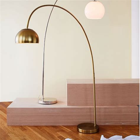 overarching metal shade floor l west elm