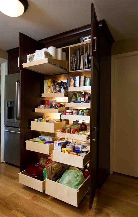 kitchen pantry cabinet  pull  shelves decor ideas
