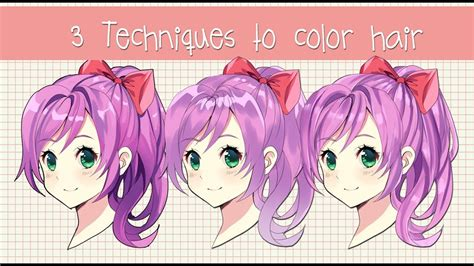 ways  shade hair anime hair coloring
