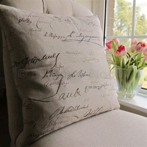 script cushion with inner bliss and bloom ltd