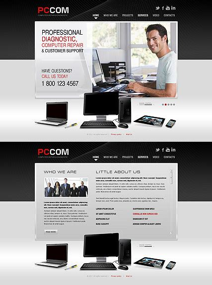 Computer Repair Web Template Free by Computer Repair Html5 Template Best Website Templates