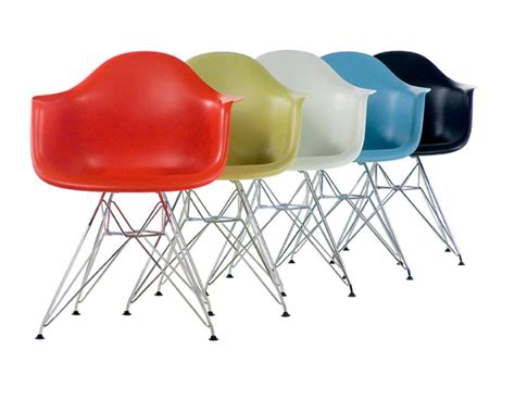 charles eames and eames eames molded plastic chairs