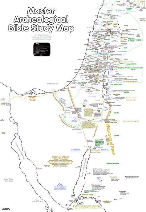 bible maps master archeological bible study map