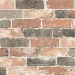 Fine Decor Reclaimed Brick Wallpaper in Dusty Red