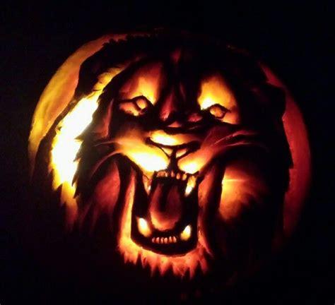 Lion Pumpkin Carving Pumpkin Carving Halloween Pumpkin