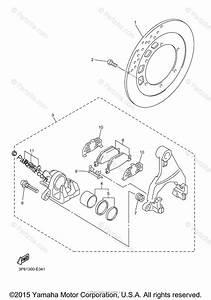 Yamaha Motorcycle 2014 Oem Parts Diagram For Rear Brake