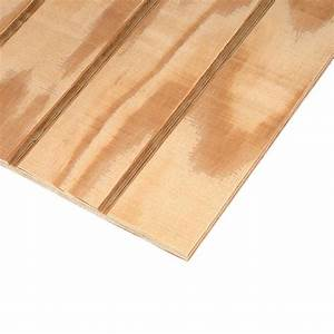 Plywood Siding Panel T1-11 4 IN OC (Common: 19/32 in x 4