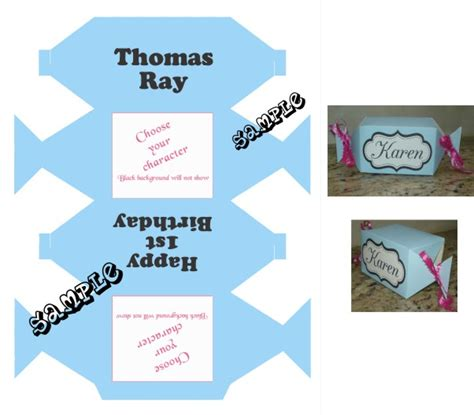 Treat Favor Box Template by Favor Box With Babyshower Clipart Any Color Scheme