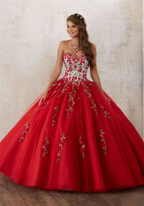 New Noble Beaded Embroidery Quinceanera Dresses Free