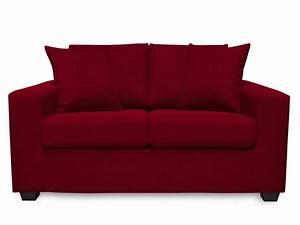 canape dehoussable rouge pas cher avec housse de canape With tapis de course pas cher avec canapé convertible express