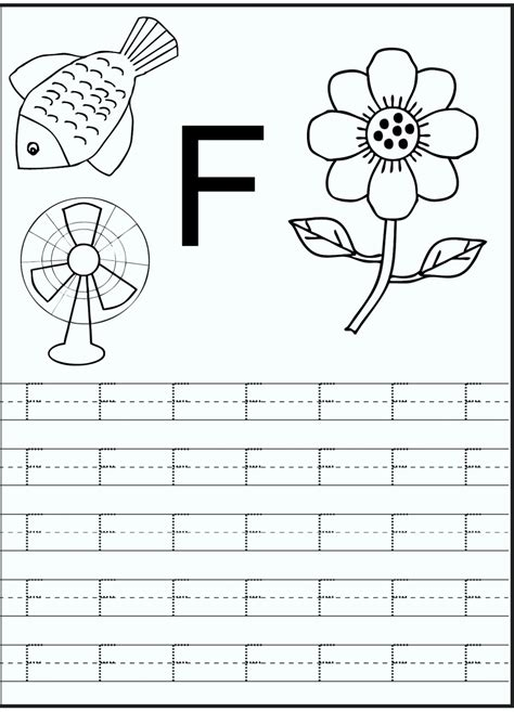 printable letter f worksheets for preschool kindergarten