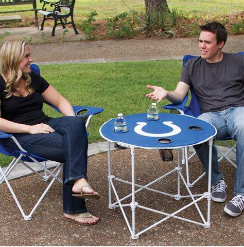 dallas cowboys folding table dallas cowboys nfl pop up folding round table