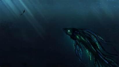 Deep Sea Monster Wallpapers 4k Ocean Background