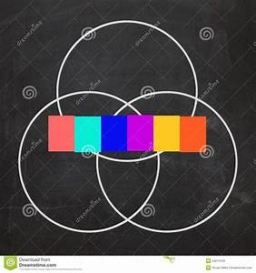 Six Letter Word Venn Diagram Shows Intersect Or Overlap Stock Photos