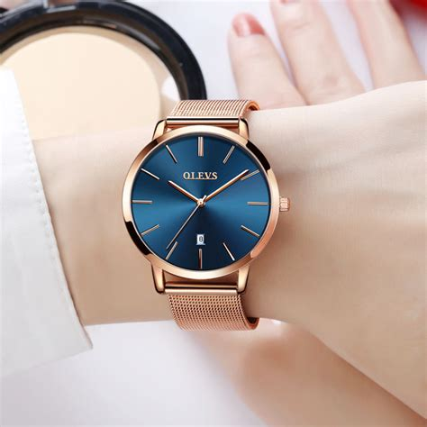 Olevs Women Watch Elegant Brand Famous Luxury Gold Quartz