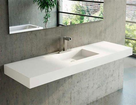 lavabo medida en corian square banos de autor