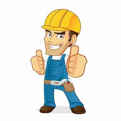 Maintenance Clipart Property Cartoon Handyman Painter Decorator
