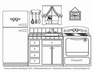 a coloring page decorate your own kitchen from lindsay With rewiring your own house uk
