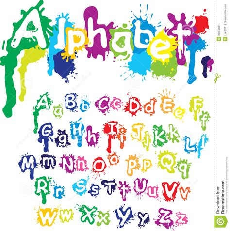 spray painting on plastic drop alphabet letters are made of water c stock