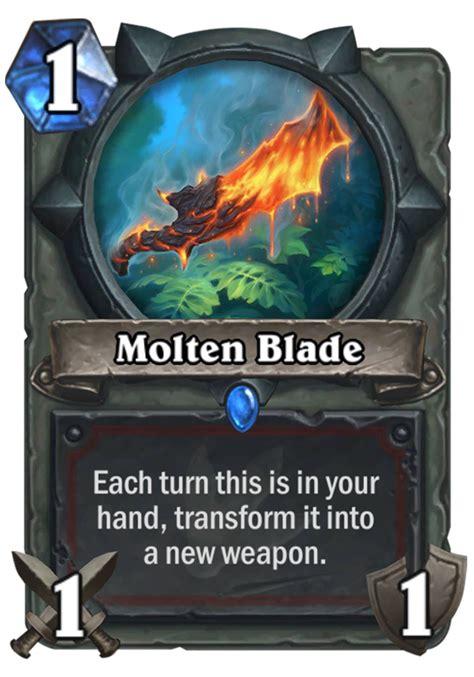 shaman deck kft molten blade hearthstone card