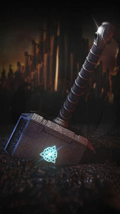 Thor Hammer Iphone Marvel Wallpapers Background Phone