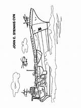 Aircraft Carrier Coloring Printable sketch template
