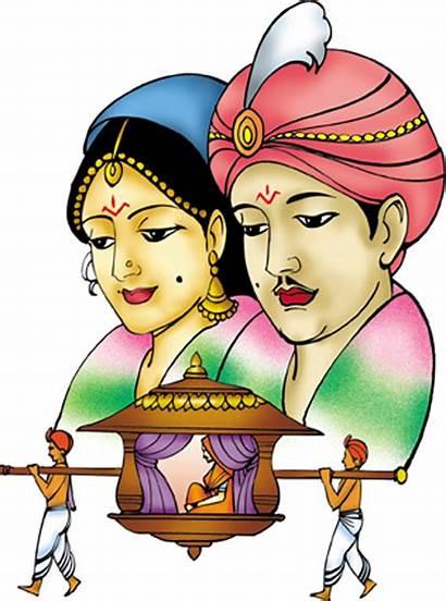 Indian Clipart Clip Marriage Colour Cliparts Symbol