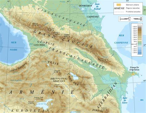 dosya caucasus mountain range map fr svg vikipedi