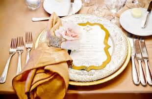 Gold Wedding Table Setting