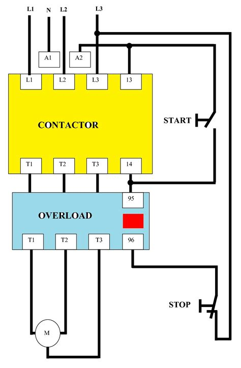 Wiring Diagram Line by Direct On Line Dol Wiring Diagram For 3 Phase With 110