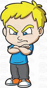 Anger clipart angry child - Pencil and in color anger ...