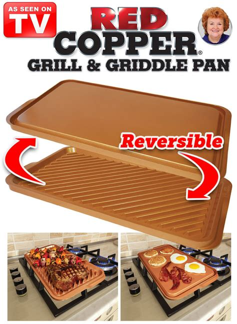 red copper grill griddle pan amerimark