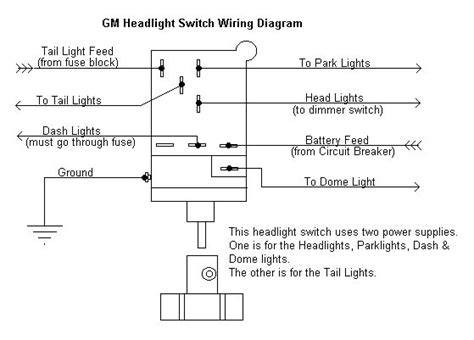 secondary power   light switch  pontiac bonne