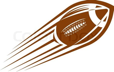 american football lace vector american football or rugby flying through the air at