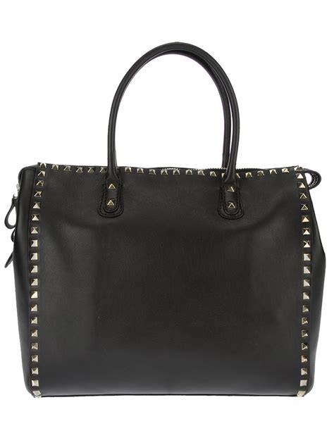 valentino studded tote bag  black lyst
