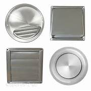 Exterior Wall Exhaust Vent Cover by Stainless Steel Wall Air Vent Metal Cover Outlet Exhaust Grille 100 125 150mm