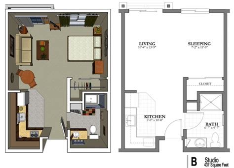 One Bedroom Apartment Layout Ideas by Studio Apartment Floor Plan Home Design Ideas Garage