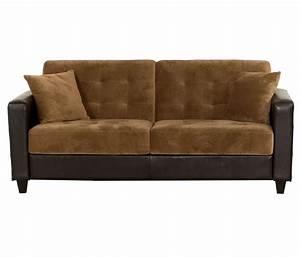 Sofa bed click clack brown for Click back sofa bed