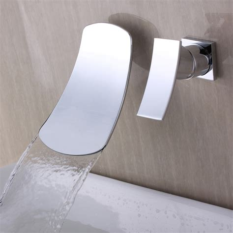 chrome waterfall wall mount contemporary stainless steel