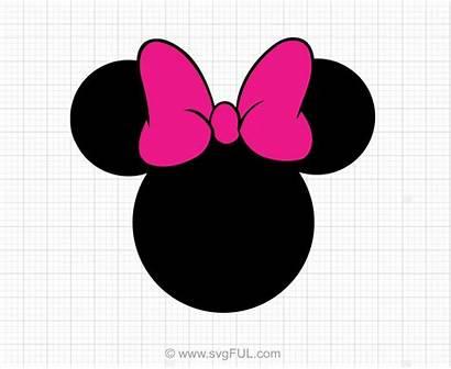 Minnie Mouse Bow Head Cricut Svg Disney